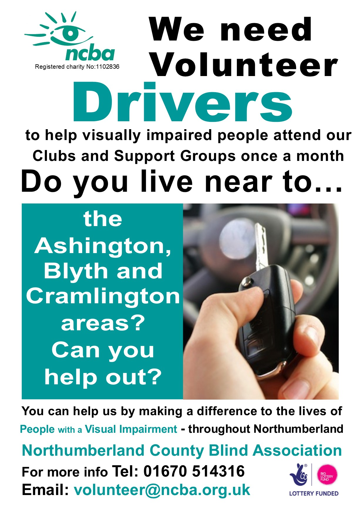 Volunteers Drivers Needed Once a Month!